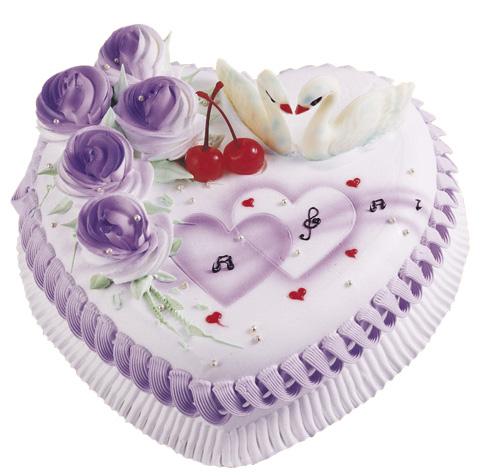 鲜花蛋糕速递网-情人心型蛋糕