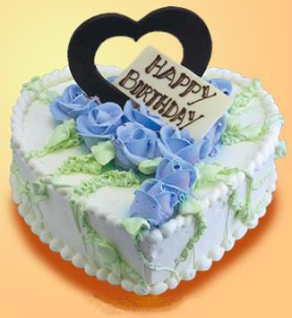 鲜花蛋糕套餐-蓝玫瑰