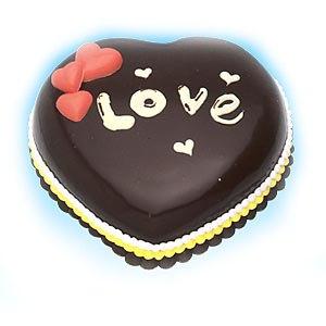 巧克力蛋糕-心语