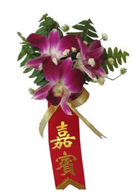网上订花-石斛兰胸花