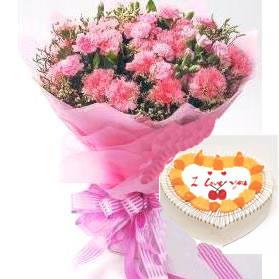 鲜花礼品-红色的祝福