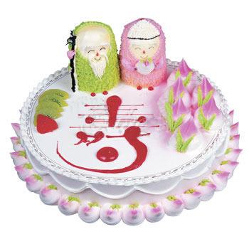 巧克力水果蛋糕-福寿双全