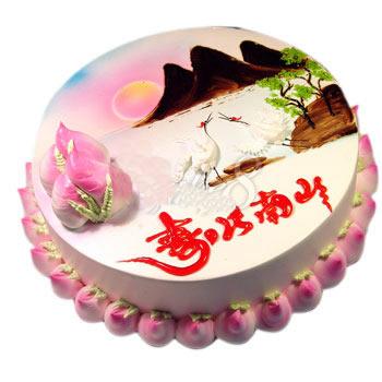 蛋糕鲜花-寿比南山