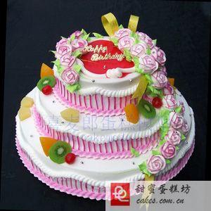 蛋糕鲜花-3层鲜奶蛋糕