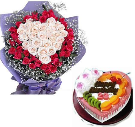 鲜花蛋糕-玫瑰密语