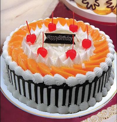 鲜花蛋糕-红红火火
