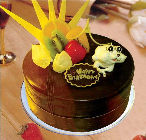 巧克力水果蛋糕-童趣
