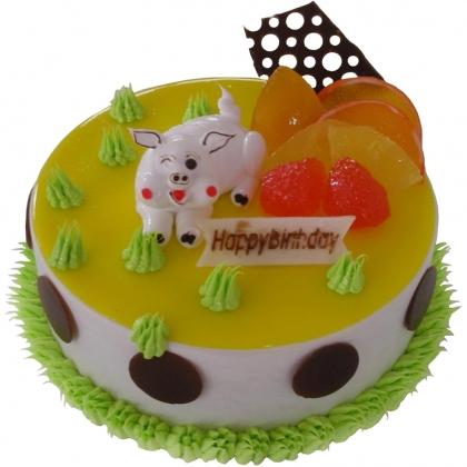 鲜奶蛋糕dangao-灿烂猪宝贝