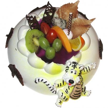 生日鲜花蛋糕-跳跳虎