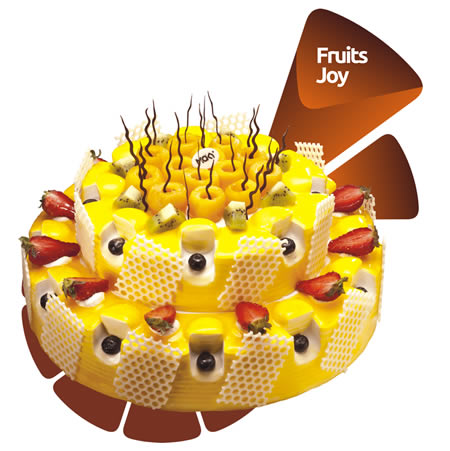 巧克力水果蛋糕-米旗  心花怒放