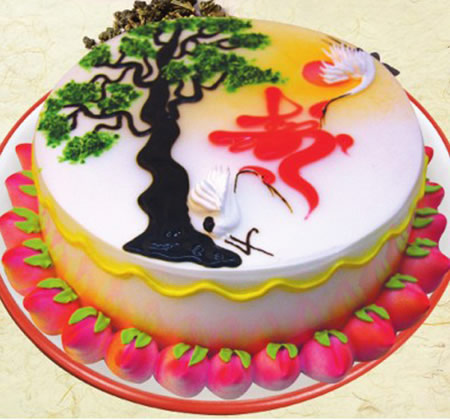 水果蛋糕-无糖蛋糕 洪福齐天