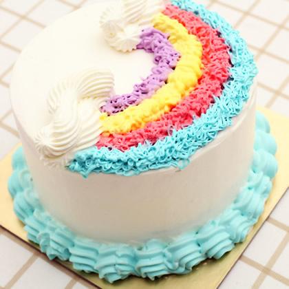 送蛋糕-淡雅彩虹