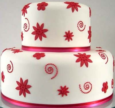 水果蛋糕-翻糖蛋糕 红叶