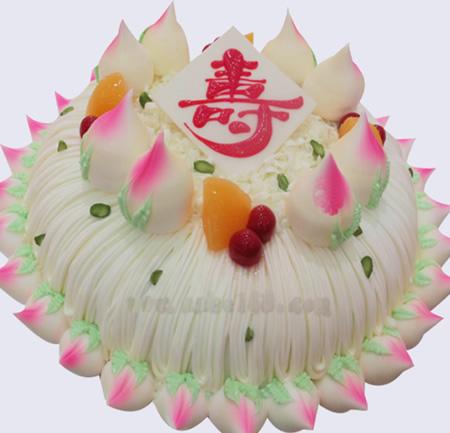 鲜花蛋糕-无糖蛋糕 恭祝无疆