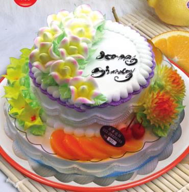 巧克力蛋糕-双层水果蛋糕