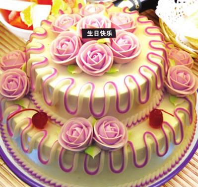 送蛋糕-多层水果蛋糕