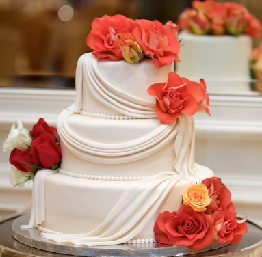 鲜奶蛋糕dangao-翻糖蛋糕 玫瑰