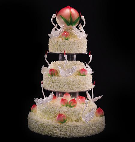 生日蛋糕-黑天鹅 福寿齐天