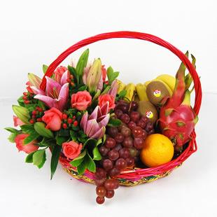 鲜花礼品店-果篮・幸福的感觉