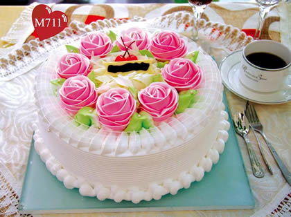 鲜花蛋糕-幸福快乐
