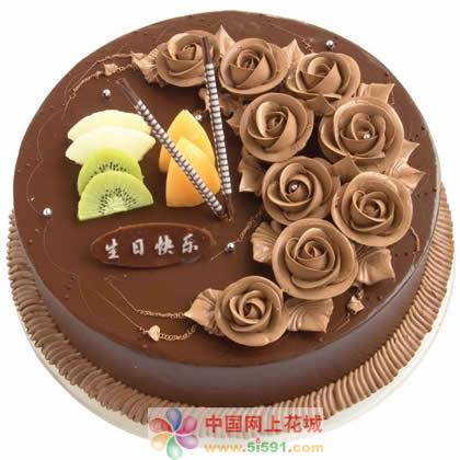 蛋糕鲜花-巧克力情缘