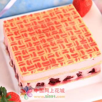 鲜花蛋糕-草莓慕斯