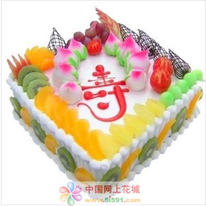 水果蛋糕-蟠桃贺寿