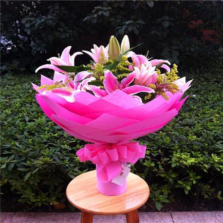 鲜花定购-粉色花语