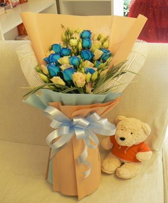 鲜花订购-蓝玫瑰情话