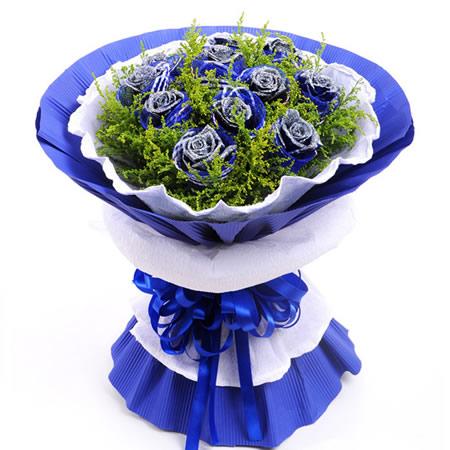 鲜花礼品-蓝色之恋