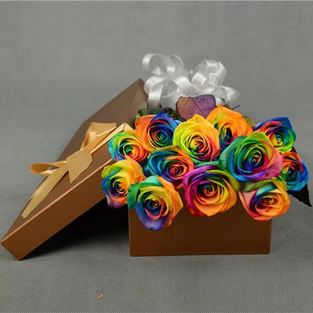 进口永生-彩虹玫瑰-多彩多姿