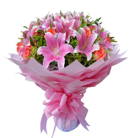 鲜花快递网-粉色爱情