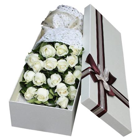 预订鲜花-白色风情