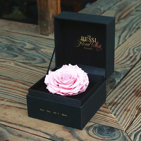 鲜花礼品店-永生花 粉色玫瑰