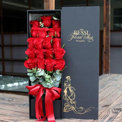 七彩玫瑰-进口花-红色自由女神19支