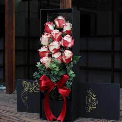 彩色玫瑰-进口花-花边的甜蜜11支