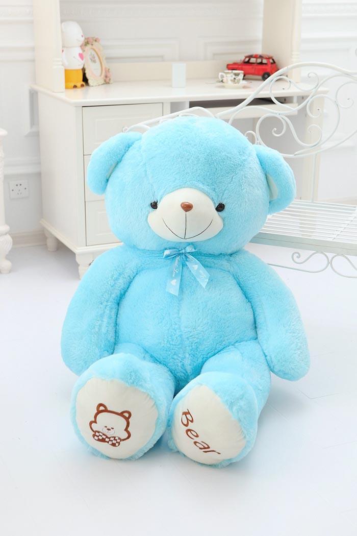 网上订花-四色丝带熊