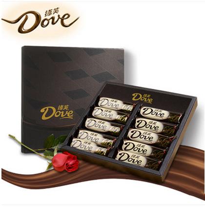 鲜花订购-德芙巧克力礼盒66%醇黑巧克力