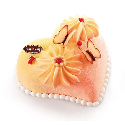 哈根达斯送蛋糕-哈根达斯 冰淇淋蛋糕 心花蝶恋
