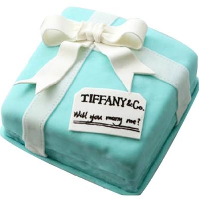 蛋糕鲜花-翻糖蛋糕  爱情相伴