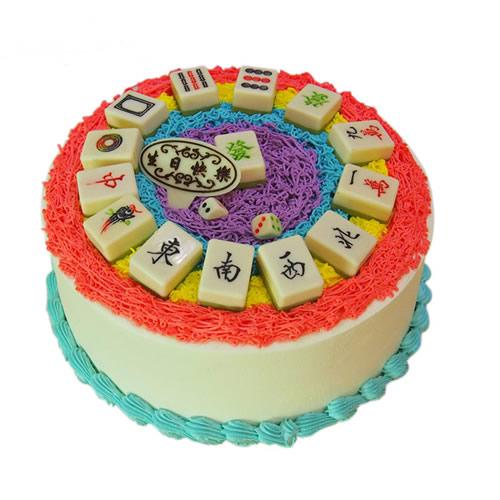 鲜花蛋糕套餐-麻将蛋糕