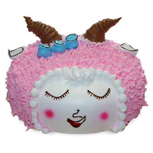 鲜奶蛋糕dangao-美丽小羊