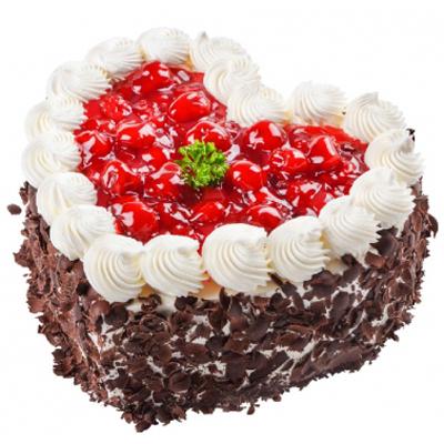 鲜奶蛋糕dangao-心型水果蛋糕