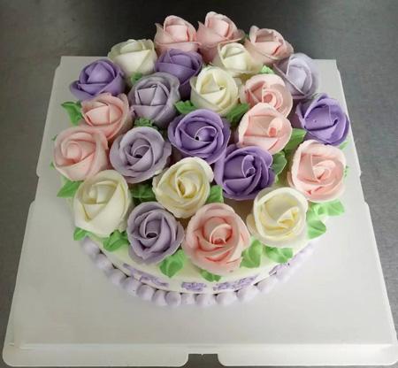 生日鲜花蛋糕-锦上添花
