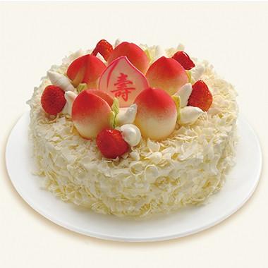 蛋糕鲜花-寿桃长春
