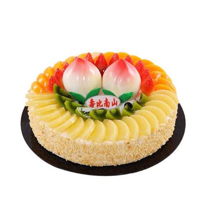 鲜花蛋糕-蟠桃献寿