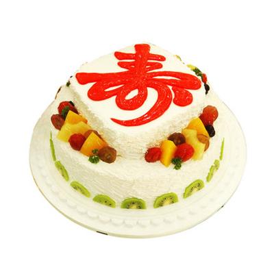 生日鲜花蛋糕-祝寿