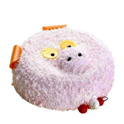 送蛋糕-儿童小猪