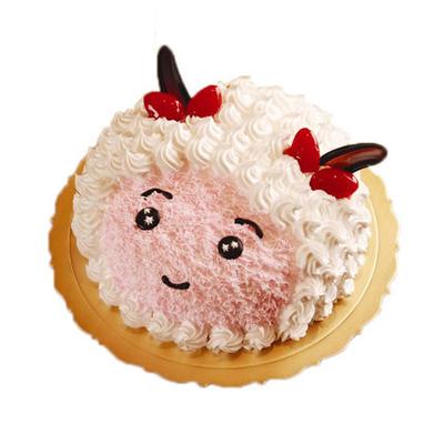 巧克力水果蛋糕-美羊羊