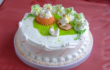 水果蛋糕-鸡年大吉